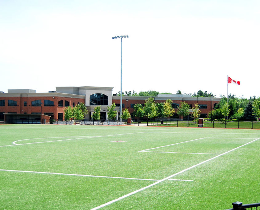 View of King's Christian Collegiate with the sports field in the forefront